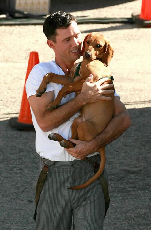 Jeffrey Donovan...what is it about men holding a puppy(ies) that makes them even hotter?
