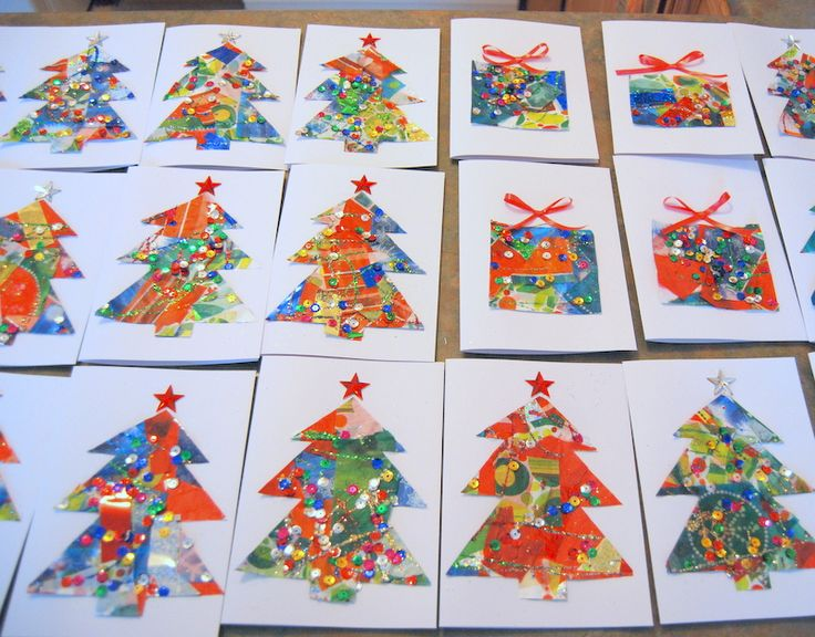 Delightful Craft Christmas Card Ideas Part - 2: Christmas Card Crafts For Kids - Before There Was Pinterest | Christmas  Card Crafts, Crafts And Kids Christmas Cards