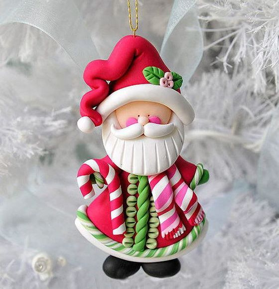 Papai Noel Enfeites de Natal Biscuit 5cm