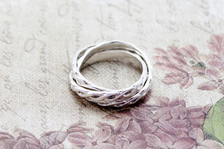Sterling Silver Russian Wedding Ring - Intertwined Ring by EmmalynnJewellery on Etsy https://www.etsy.com/listing/187648797/sterling-silver-russian-wedding-ring