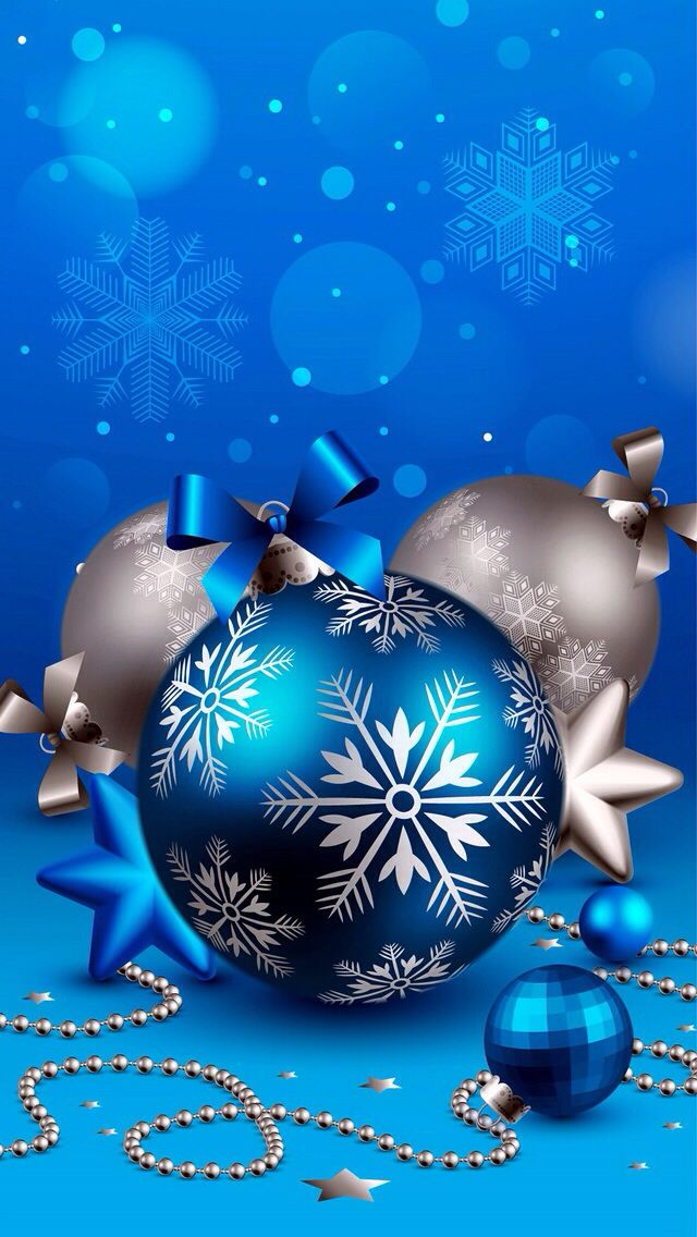 Blue Christmas Balls   Wallpapers   Pinterest   Christmas