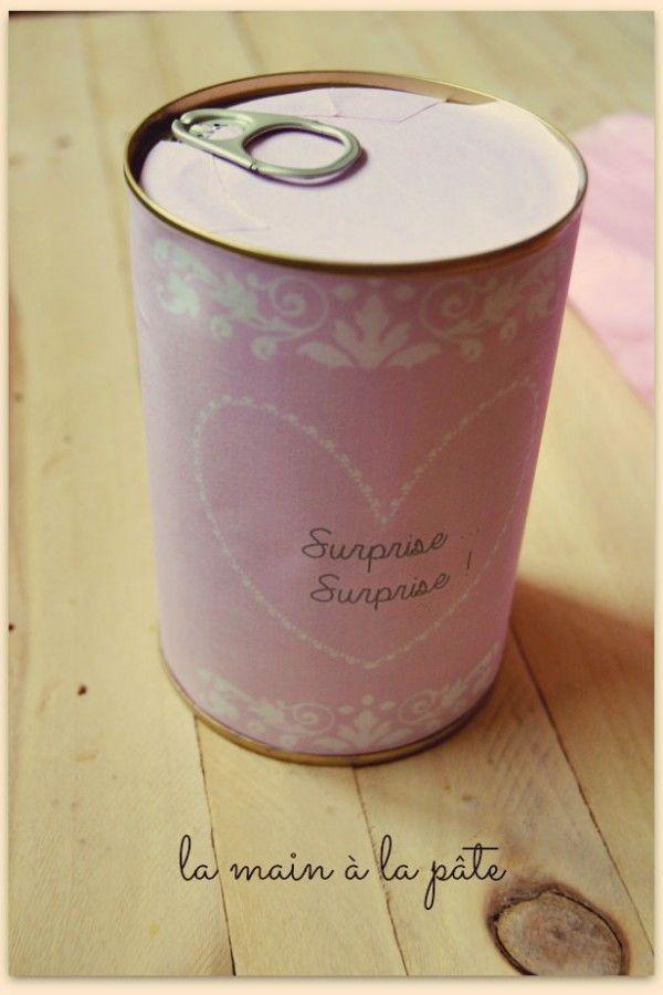 {Cadeau gourmand} boite surprise de biscuits apéro (étiquette à imprimer)