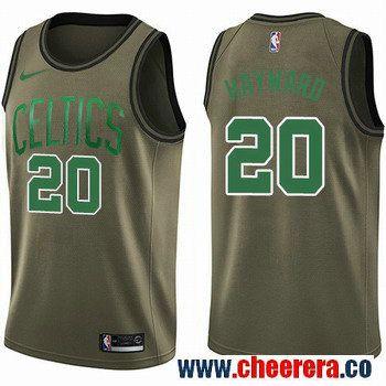 Men's Nike Boston Celtics #20 Gordon Hayward Green Salute to Service NBA Swingman Jersey