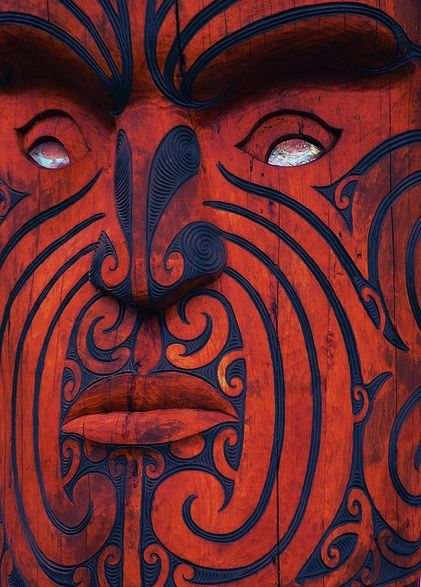 Maori woodwork. Great colours and love the characteristic whorls.