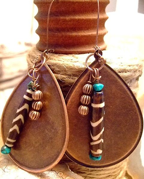 etsy handmade african jewelry | with African Vibe for Women, Etsy, Jewelry, Copper, Turquoise, African ...