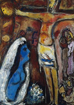 Marc Chagall, La Mariée en Blue (The Blue Bride), Collezione privata, Londra