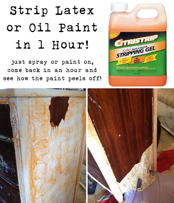 Citristrip Safer Paint and Varnish Stripping Gel...it's only $12 for a quart at Home Depot & it's non-toxic, non-corrosive & biodegradable.