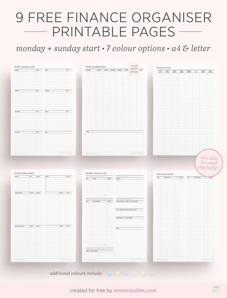Free Printable Mini Budget Planner