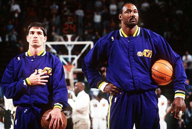 John Stockton & Karl Malone...I miss watching these two play. Stockton to Malone, best thing ever!
