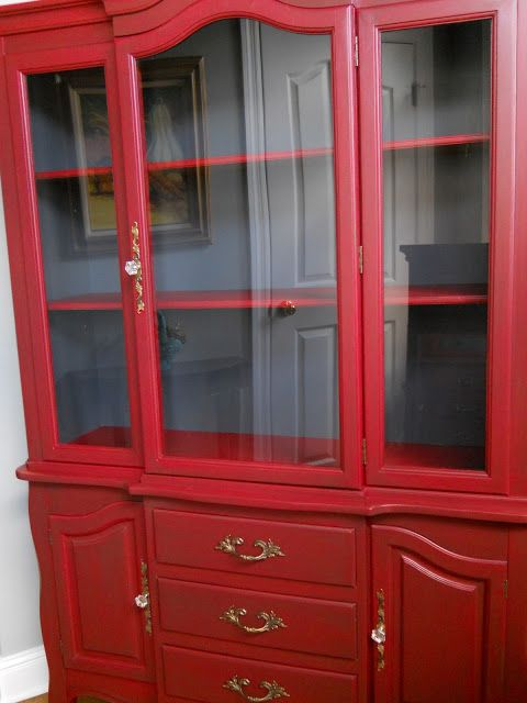 dreamingincolor: Painted Hutch Before and After