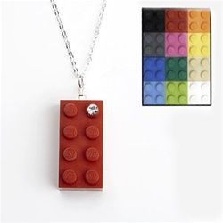 Recycled Toy Block Pendant
