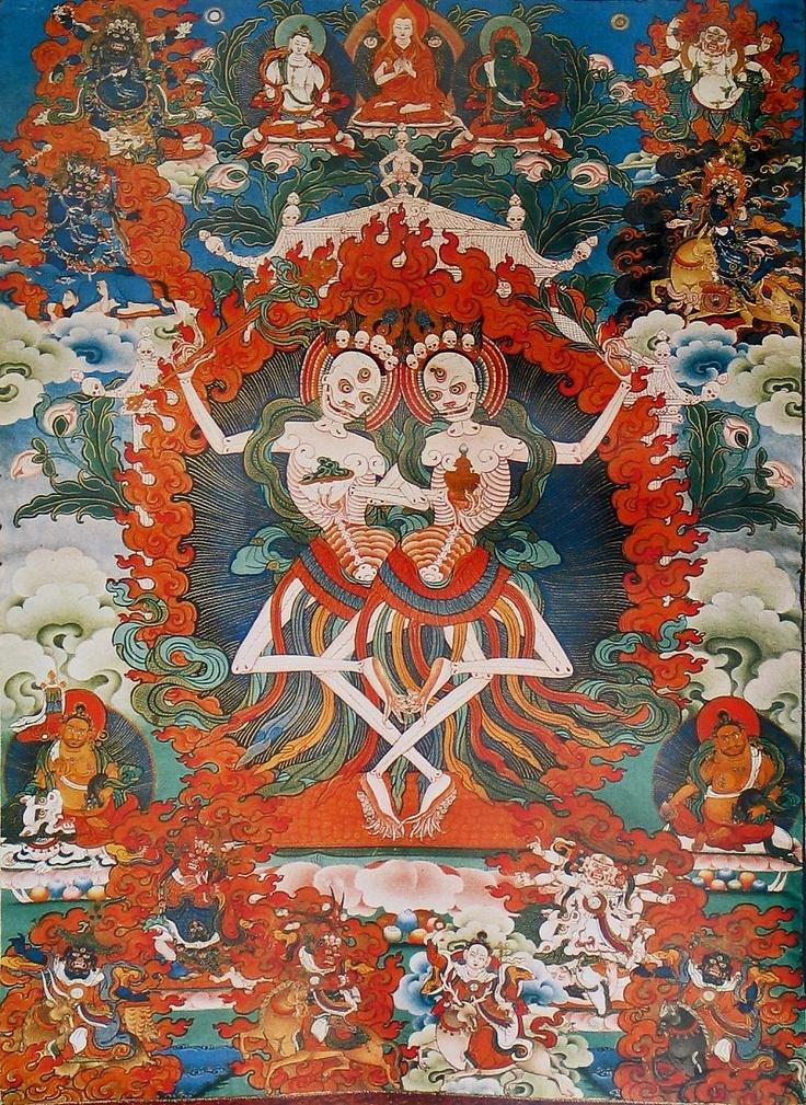 Thangka, 尸陀林主 Load of slto-vana, Tibetan painting