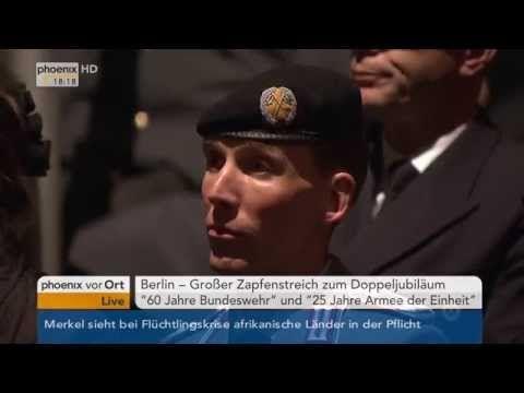 60 Jahre Bundeswehr: Reden von Ursula von der Leyen und Norbert Lammert am 11.11.2015 - YouTube