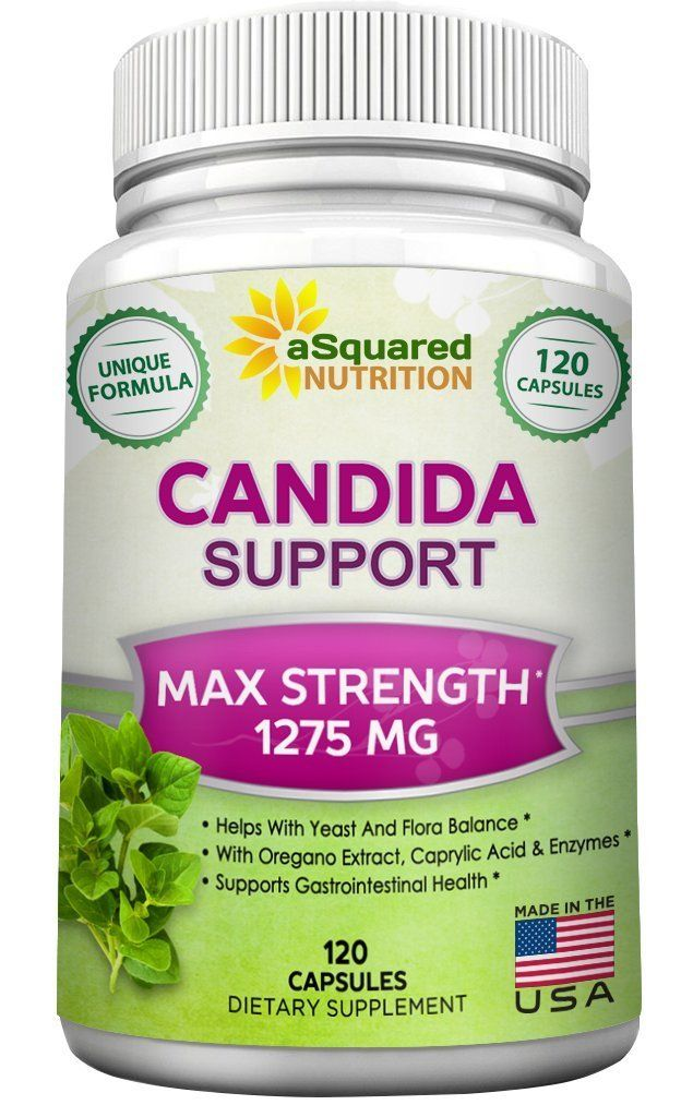 aSquared Nutrition Candida Support Cleanse Supplement - Pure Natural Candida Yeast Infection Support Detox Pills with Probiotics, Herbs and Antifungals - 120 Capsules *** Wow! I love this. Check it out now! : Herbal Supplements