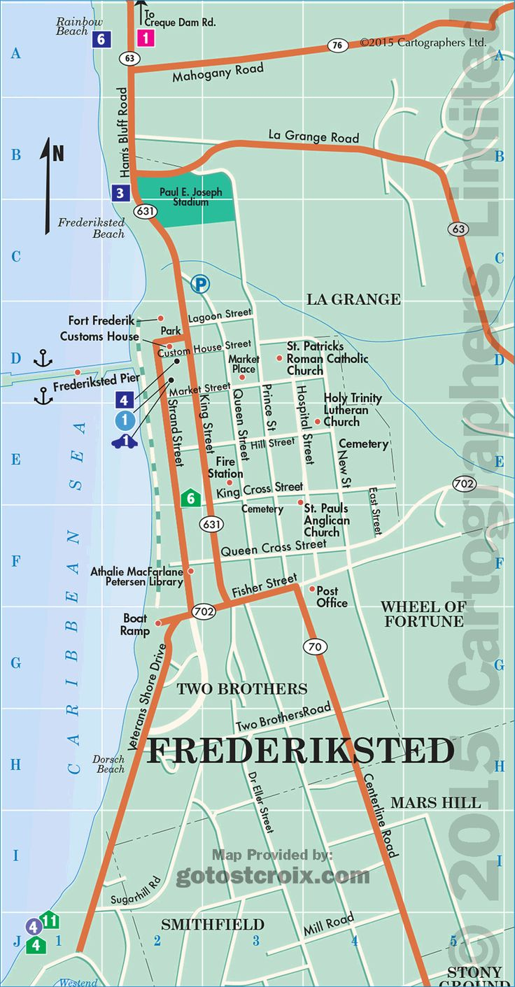 Best St Croix Map Images On Pinterest - Map location of us virgin islands