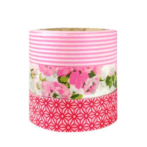 Wrapables Pink Passion Japanese Washi Masking Tape, Set of 3 Wrapables http://www.amazon.com/dp/B00C6OFJVS/ref=cm_sw_r_pi_dp_jgB3tb1FEEFTSTT0