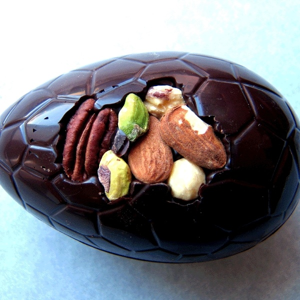Organic Dark Chocolate Nutty Egg from Cocoa Mountain