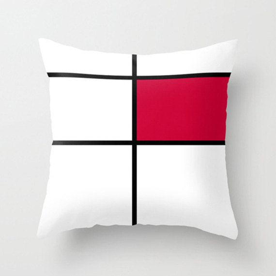 mondrian 3 red cushions pillows throw pillows 16 x by gorgeousgd outdoor cushion