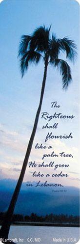 PMC Bookmark Palm Tree, Psalm 92:12 verse, #MemorialCard #PalmTree #Psalm92