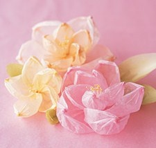 Crepe Paper Flowers :)    Go here for the how-to: http://www.marthastewartweddings.com/226603/shaped-crepe-flowers?center=0=274777=237525