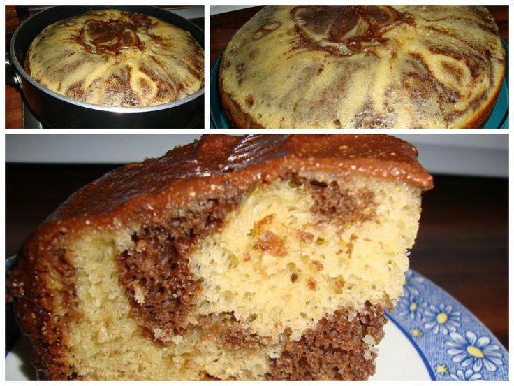 Qué tal un rico pastel de Licuadora, con harina de Hot Cakes y además en la Estufa... rico y fácil...