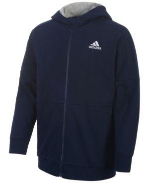 adidas Dynamic Rise Cotton Jogger Jacket, Toddler & Little Boys (2T-7) - Blue 2T