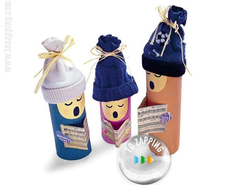 M s de 1000 ideas sobre rboles de papel higi nico en - Manualidades con rollos de papel higienico navidenos ...
