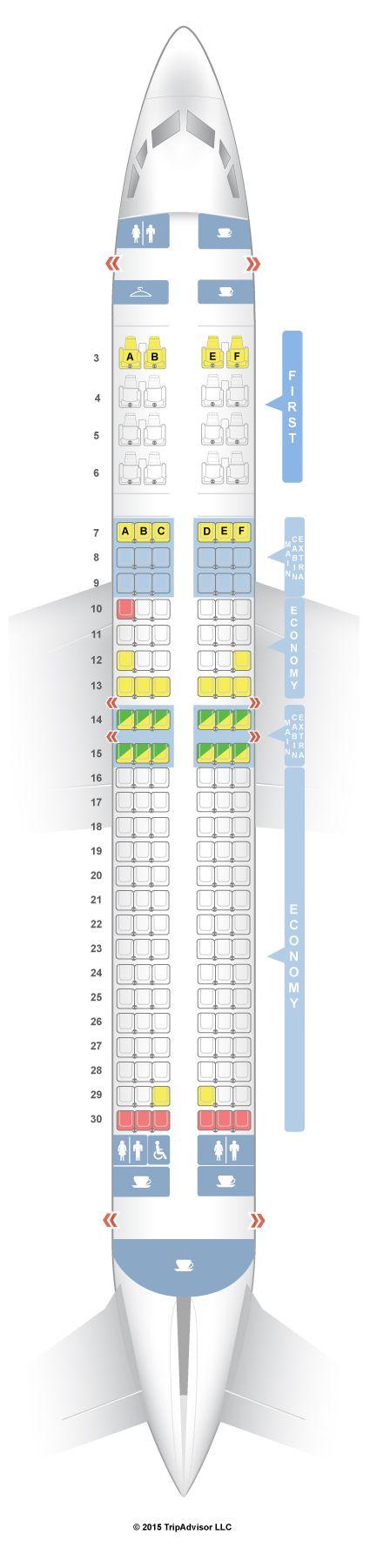 SeatGuru Seat Map American Airlines Boeing 737-800 (738) V1 - SeatGuru