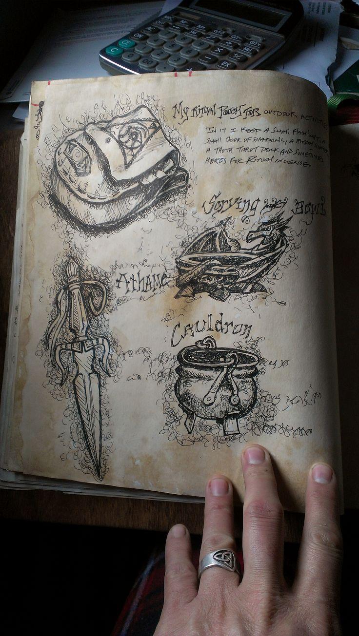 Beautiful illustrated Grimoire.