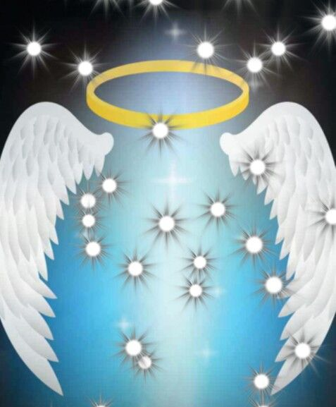 Angel halo and wings