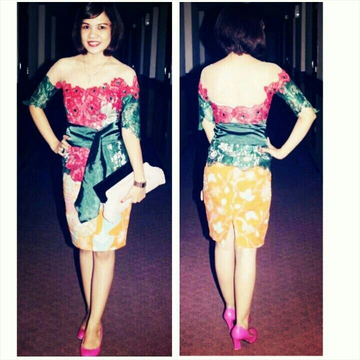 Brokat semi perancis dan batik indonesia