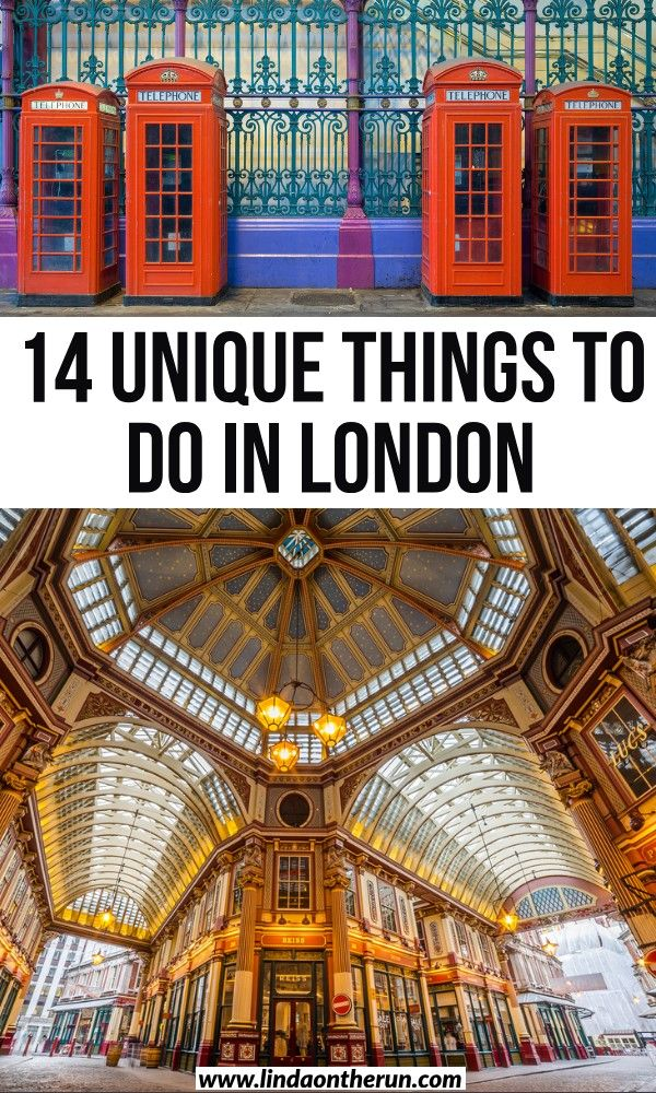 unique things to do in london