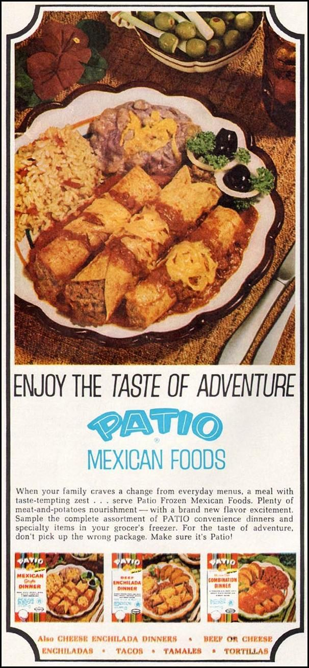 Retro Food, Vintage Food, Retro Ads, Vintage Tv, Mexican Fiesta, Magazine  Ads, Good Housekeeping, Mexicans, Homemaking