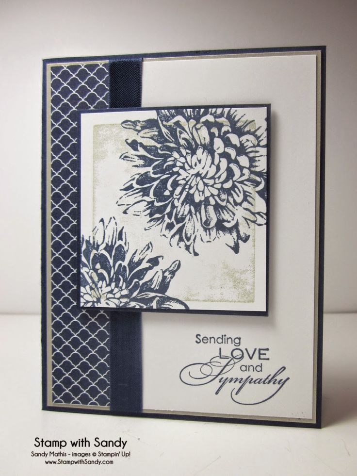 Sympathy card by Sandy Mathis.... love the inside too (see in her blog post)