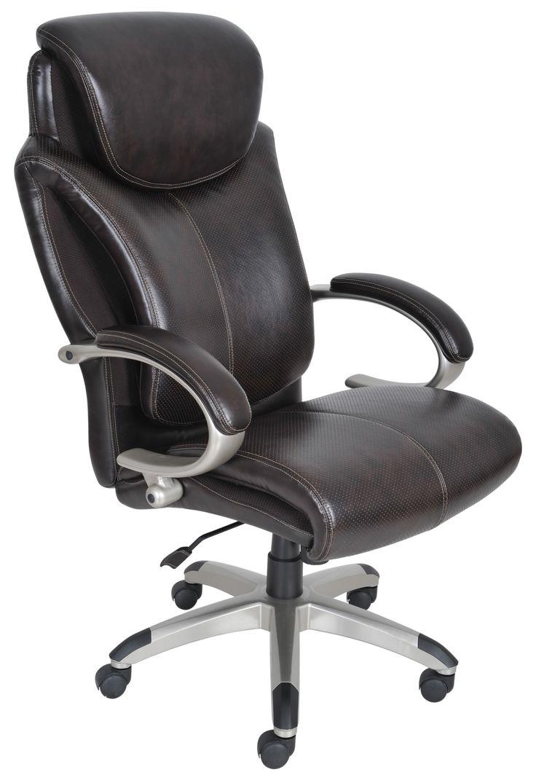 Serta 43809 Air Health And Wellness Executive Office Chair Tall Roasted Chestnut