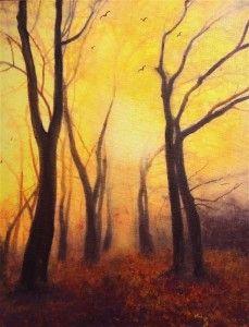 Golden Light Through Trees by Teresa Tanner