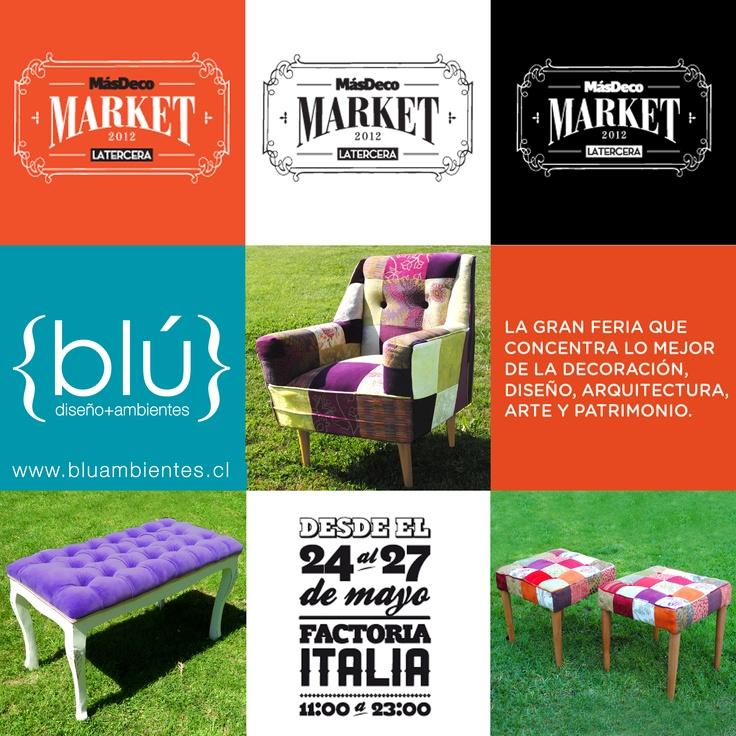 Blú Diseño+Ambientes en MásDecoMarket con nuevos diseños / 24 a 27 de Mayo / Av. Italia con Bilbao
