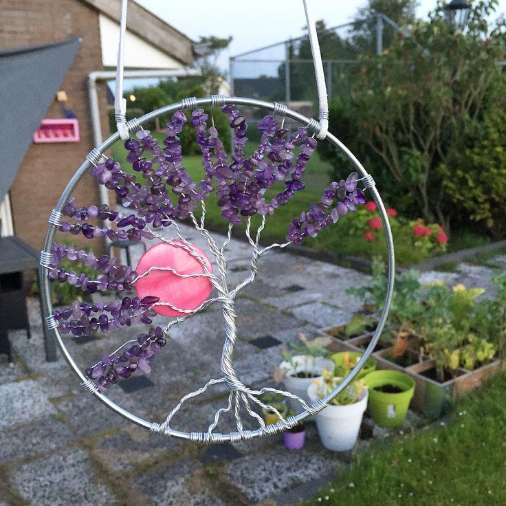 Handgemaakte levensboom met amethist vanaf nu verkrijgbaar bij Cervus Vigor
