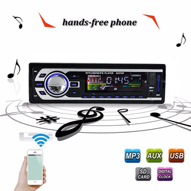 12V Car Radio BLUETOOTH Stereo Audio In-dash FM Receiver Aux Input ReceiverUSB/SD Audio MP3 auto Radio Car in Dash 60Wx4  Phone #CLICK! #clothing, #shoes, #jewelry, #women, #men, #hats, #watches