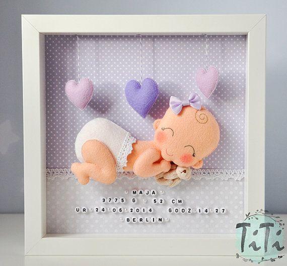Cornice decorativa del bambino nuovo bambino personalizzati