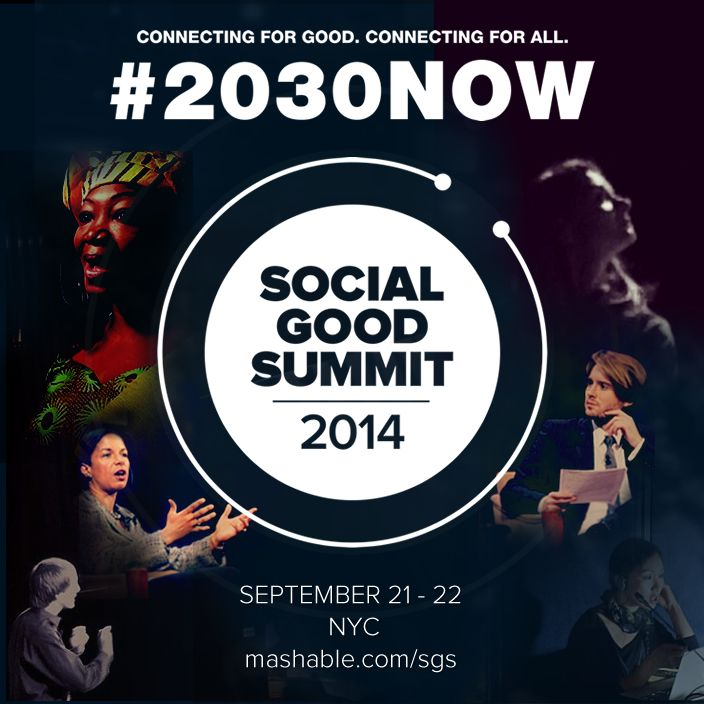 The Social Good Summit is a two-day conference examining the impact of technology and new media on social good initiatives around the world. www.mashable.com/sgs