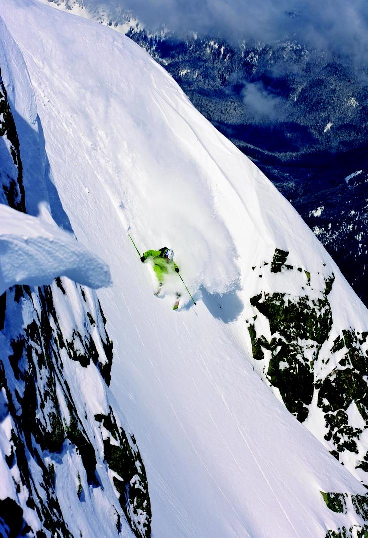 White capped Whistler Mountain