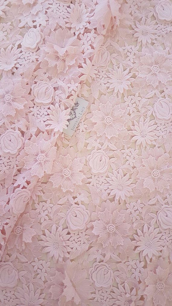 Pink 3D cotton flowers lace fabric, Luxury hand made 3D cotton flowers, French Lace, Embroidered lace, Wedding Lace, Bridal lace Article: K000047 Width: 130 cm(51.18 inches) Colors: Pink Lace edge: Both sides scalloped Sold per meters (100cm x 130 cm) We ship worldwide via Priority mail (Latvijas Pasts) from Latvia (EU). All orders have tracking number and are well trackable in most countries. Delivery time to USA approx. 2 weeks and all order are well trackable by USPS.com *** Wholesale ...