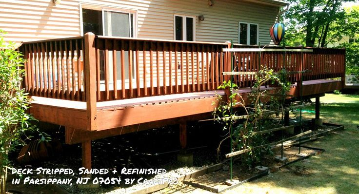 Deck stain removal refinishing parsippany nj exterior