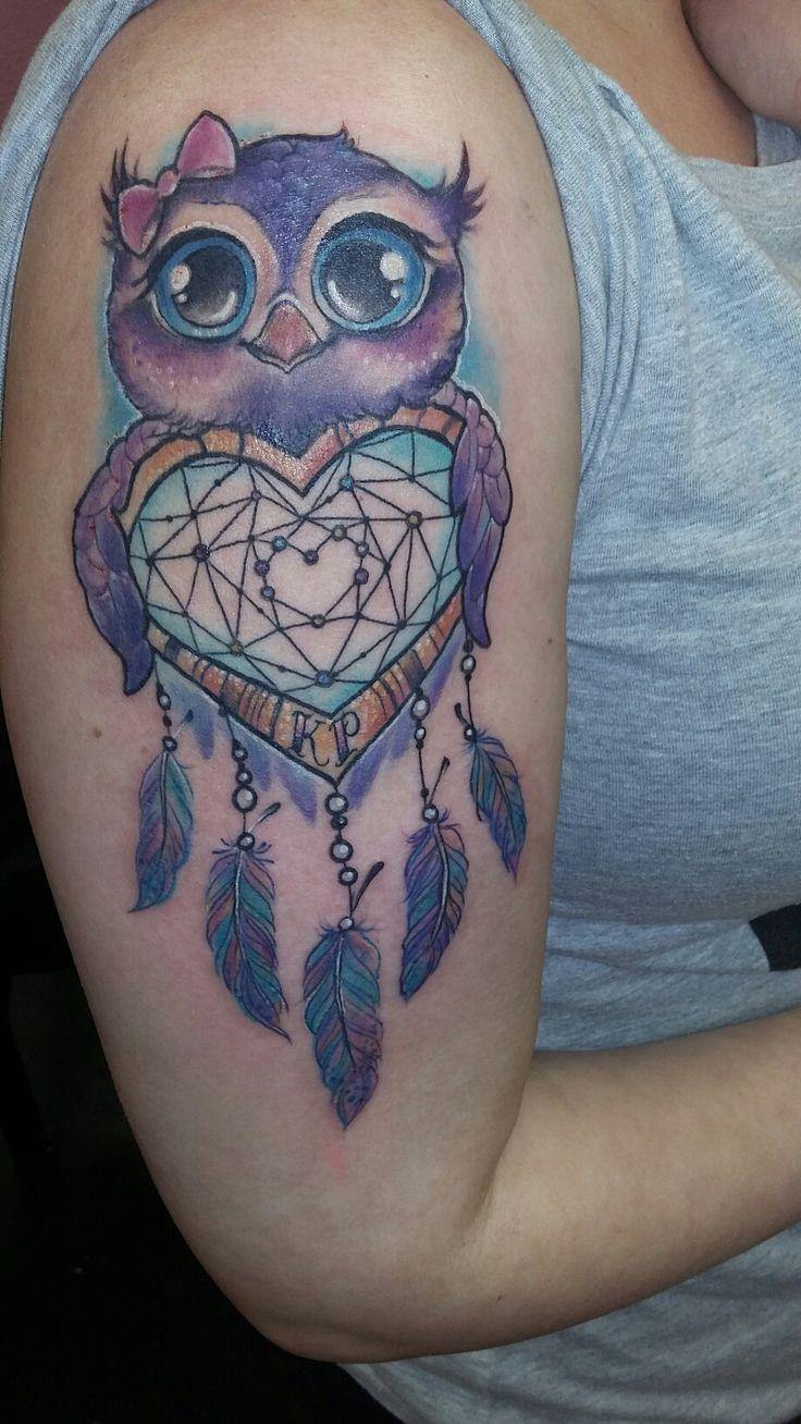 Owl heart dream catcher