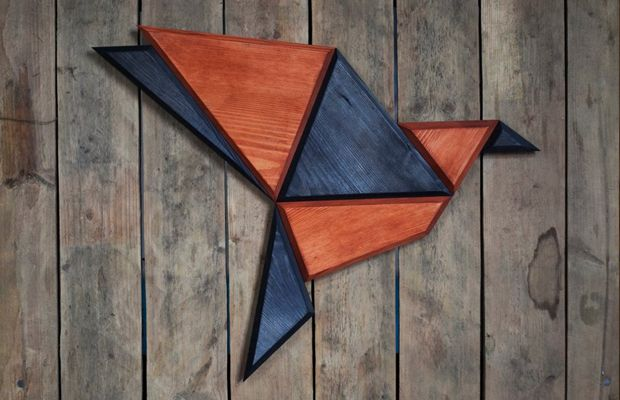 Designer polonês (Poligon) cria lindos animais geométricos feitos de madeira para decorar a casa;