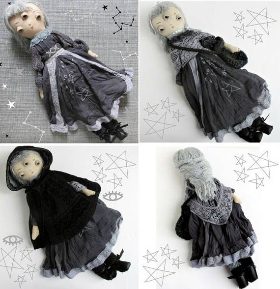 Aislin a one of a kind handmade cloth doll