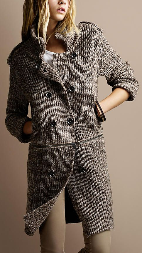 Burberry chunky knit cardigan <3