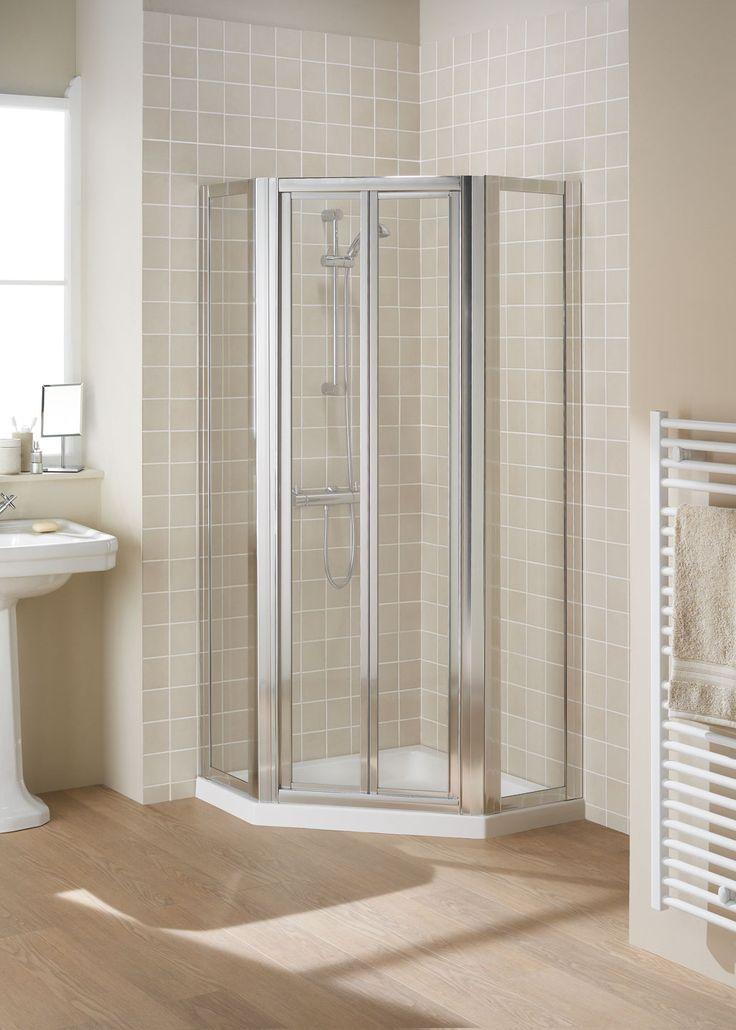 Pentagon Corner Shower Enclosure    Lakes Bathrooms