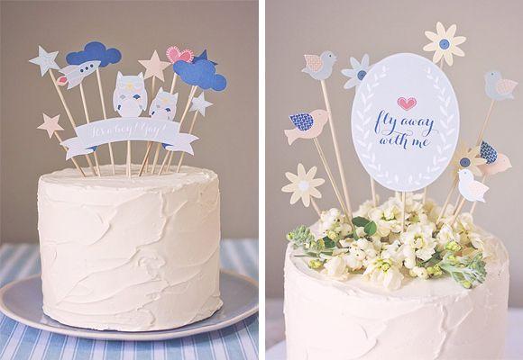 cake toppers gratuit a imprimer